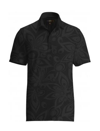 【激レア】LOUDMOUTH ラウドマウスゴルフ Tonal Shagadelic Black Shirts ポロシャツ US直輸入!