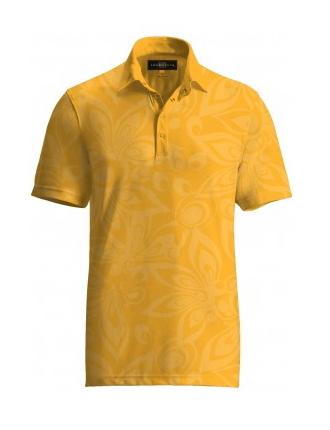 【激レア】LOUDMOUTH ラウドマウスゴルフ Tonal Shagadelic Yellow Shirts ポロシャツ US直輸入!