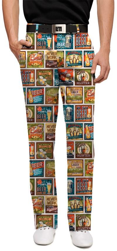【激レア】LOUDMOUTH ラウドマウスゴルフ Beer Thirty ロングパンツ ジョン・デーリー着用 US直輸入!