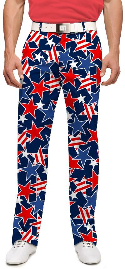 【激レア】LOUDMOUTH ラウドマウスゴルフ Star Studded ロングパンツ ジョン・デーリー着用 US直輸入!