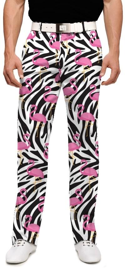 【激安】LOUDMOUTH ラウドマウスゴルフ Savage Flamingos StretchTech ストレッチ ロングパンツ ジョン・デーリー着用 US直輸入!