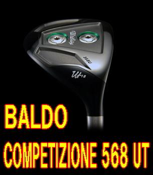 【送料無料】BALDO COMPETIZIONE 568 UT ヘッド + カスタムシャフト装着!