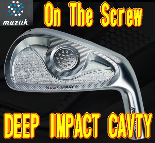 【送料無料】Muziik ムジーク On The Screw Deep Impact Cavity IRON アイアン 5-P + カスタムシャフト装着!