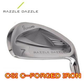 【送料無料】Razzle Dazzle ラズル・ダズル CSI-C FORGED IRON アイアン 5-PW(6本セット) + カスタムシャフト装着!