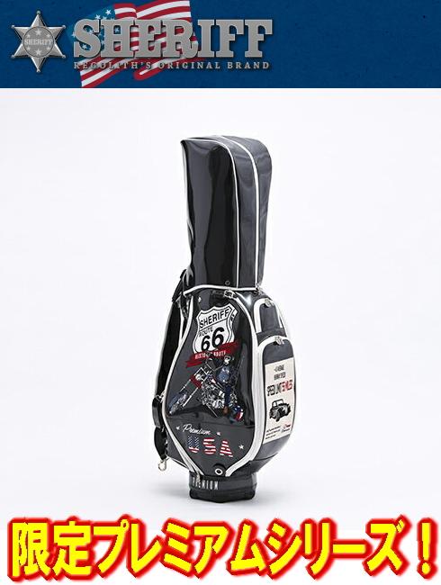 【限定】シェリフ SHERIFF SP-001 プレミアムシリーズ カートキャディバック 9.5型 BLACK 新品!