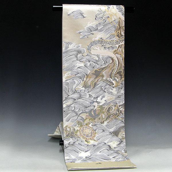 特選・正絹西陣袋帯袋帯【橋本清織物謹製】【四神】壱千八百細緻織