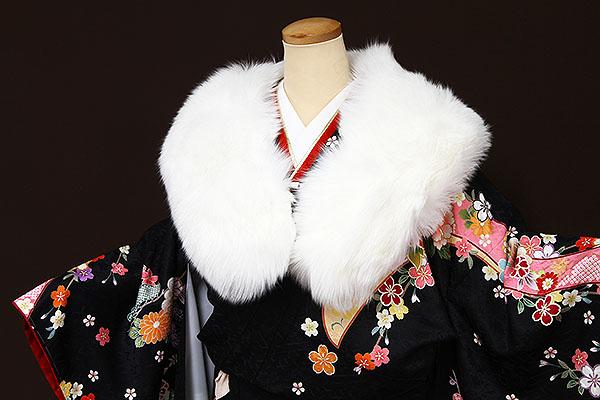 ショール フォックス 成人式 振袖 洋装 シャドーフォックス毛皮ショール