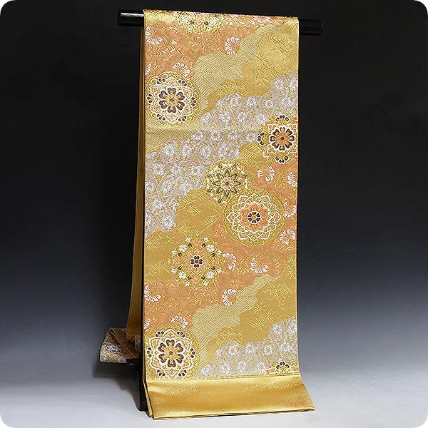 袋帯 礼装用 正絹 西陣織【(株)橋本清織物謹製・琥珀錦・三十六歌仙文】