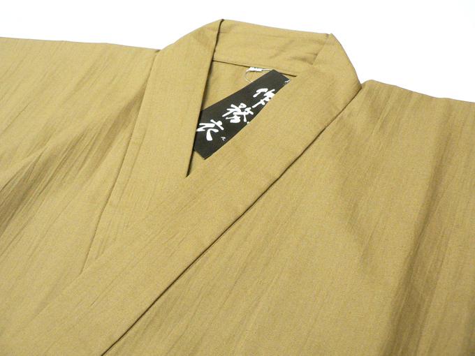 作務衣 -【日本製】 麻混ワッシャー作務衣5番色茶 (M,L,LL) 【和粋庵さむえ】【送料無料】【父の日】【敬老の日】のギフト・プレゼントにも