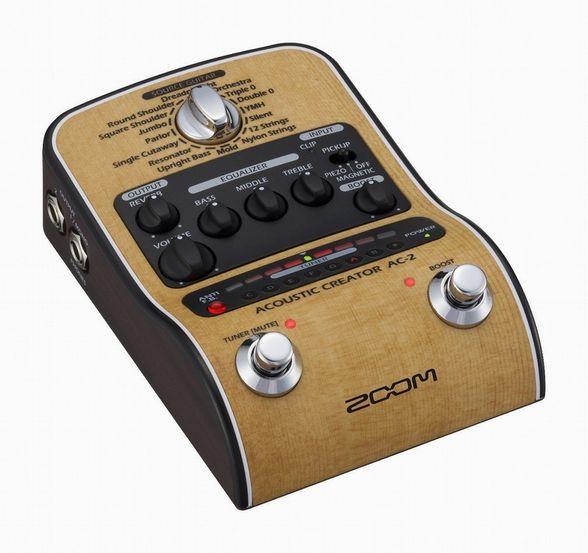 ZOOM ズーム Acoustic Creator アコースティックギター用プリアンプ AC-2【新品】【送料無料】