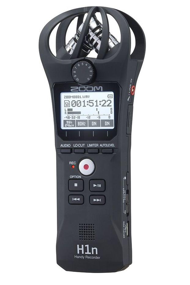 ZOOM H1n ズーム ハンディレコーダー ブラック 90°XY方式のステレオマイク搭載【ケース付き】【新品】【送料無料】