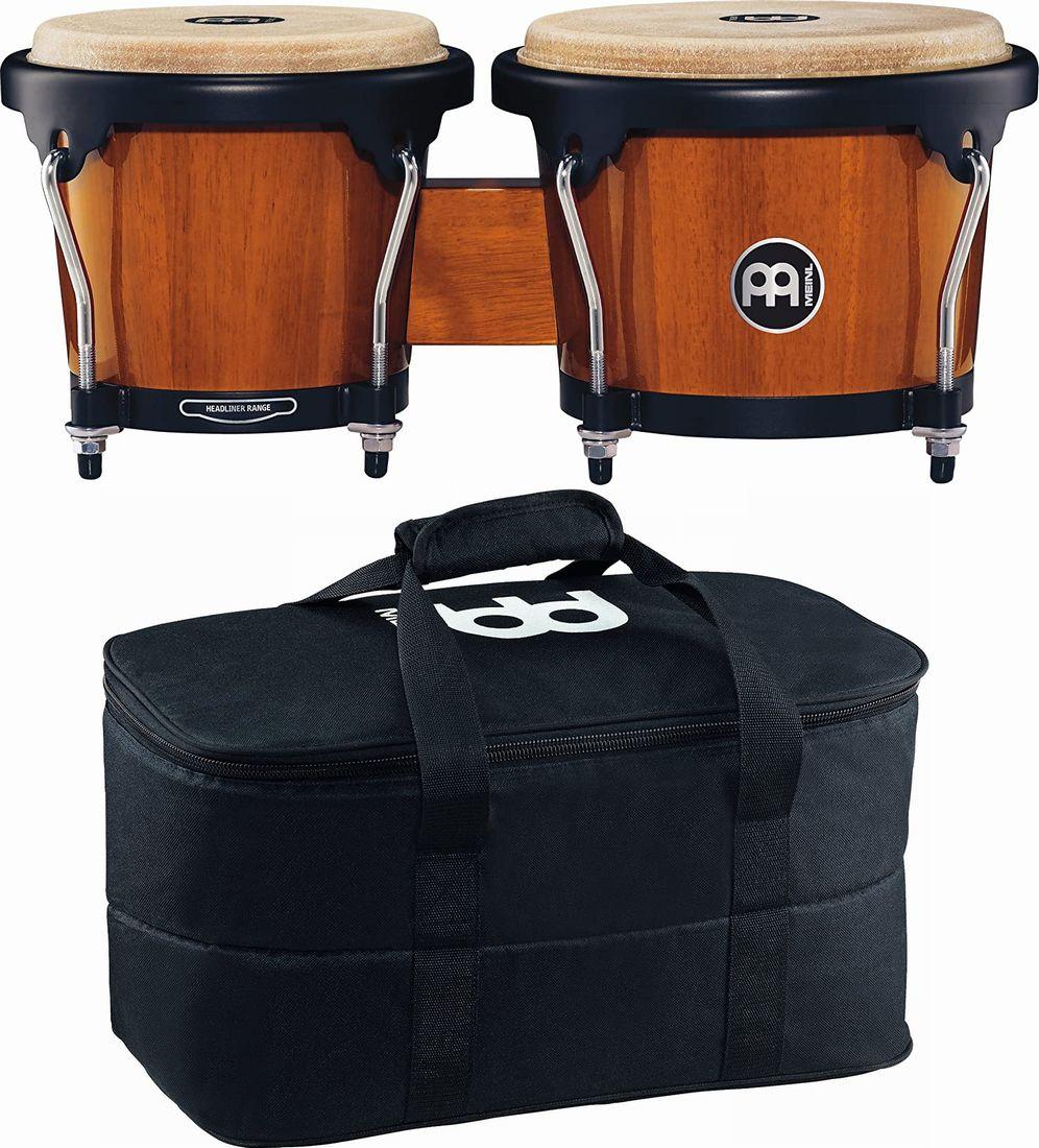 【純正ケース付き】MEINL Percussion マイネル ボンゴ Headliner Series Wood Bongo HB100MA【新品】【送料無料】