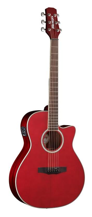Morris R-011 SR エレアコギター シースルーレッド モーリス【新品】【送料無料】