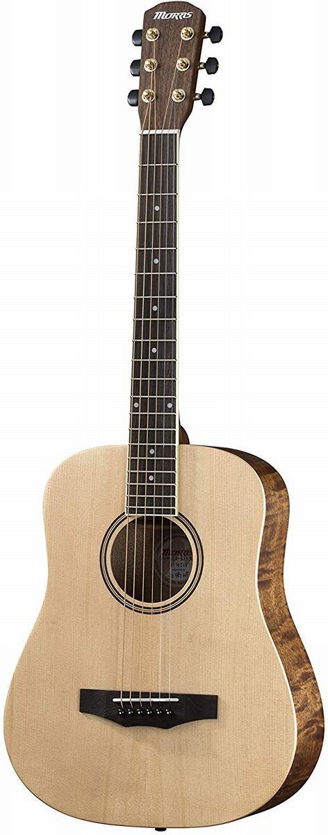 Morris LA-021 NAT ナチュラル モーリス コンパクトサイズ アコースティックギター ミニギター【チューナー/ストラップ/交換弦/ピック/ワインダーの小物セット付き】【新品】【送料無料】