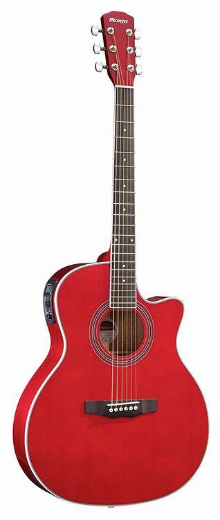 Morris R-401 SR エレアコギター シースルーレッド モーリス【新品アウトレット】【送料無料】