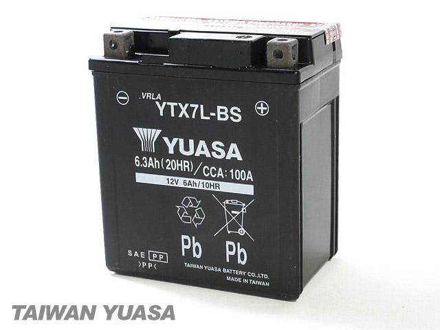 台湾YUASA 1年保証 台湾ユアサバッテリー YUASA YTX7L-BS 互換 GTX7L-BS 春の新作 FTX7L-BS DTX7L-BS Dトラッカー125 KLX125DAF 上質 エリミネーター250 VN250 バンバン200 ジェベル200 ジェベル 3RW SH42A DF200 NH42A 125 セローXT225 NH41A SF44A スーパーシェルパ 4JG1-4