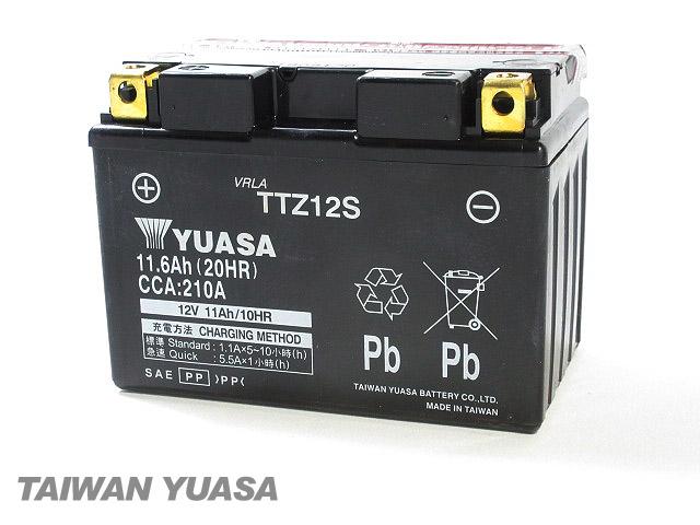 台湾YUASA 1年保証 台湾ユアサバッテリー YUASA TTZ12S 互換 YTZ12S FTZ12S フェイズ 驚きの価格が実現 S 日時指定 MF11 フォルツァ シルバーウイング400 PS250 Z フォルツァX NF01 PF01 MF10 シルバーウイング600 MF08 MF09 MF06 ABS