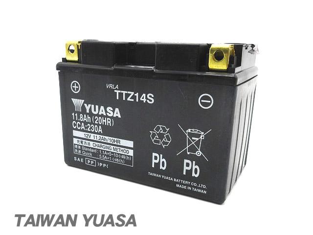 台湾YUASA 1年保証 台湾ユアサバッテリー YUASA TTZ14S 互換 YTZ14S FTZ14S GTZ14S VTZ14S 2006.11-2011.03 XJR1300 いつでも送料無料 FZ-1 FAZER Vstar950 驚きの値段で FZ1-N RN21 V-MAX1700 RP17J