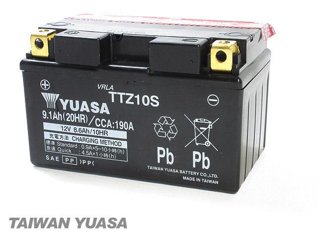 台湾YUASA 1年保証 ブランド品 限定品 台湾ユアサバッテリー YUASA TTZ10S 互換 YTZ10S FTZ10S DTZ10S VTZ10S YAMAHA マジェスティ250 T-MAX500 YZF-R1 NINJA MT-09 ZX-10R マグザム ドラッグスター400 VH02 4D9 kawasaki MT-07