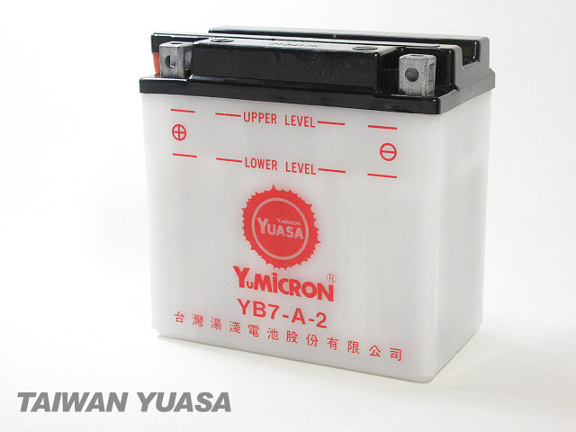 台湾YUASA お得 1年保証 台湾ユアサバッテリー YUASA YB7-A-2 互換 YB7-A 12N7-4A GM7Z-4A FB7-A GT380 GS125 NF41B バーディ50 ジェンマ125 K50 NF41A バーディ70 GN125 K90 CF41 新着セール バーディ80