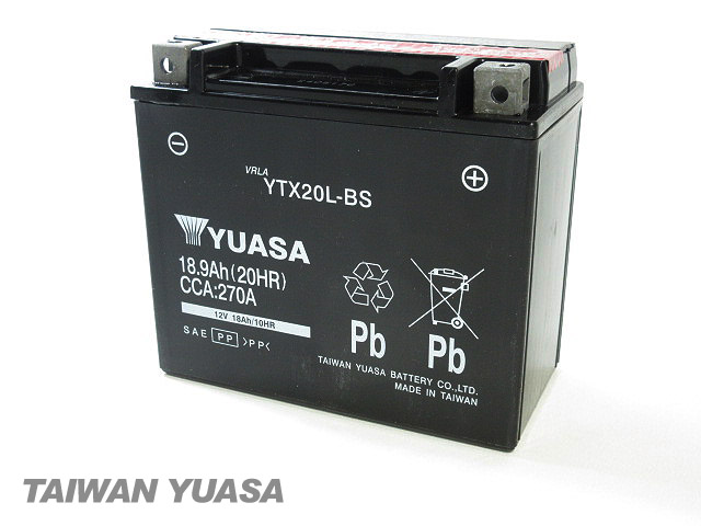 台湾YUASA 1年保証 台湾ユアサバッテリー YUASA 保障 YTX20L-BS 互換 商舗 VTX20L-BS 65989-90B ジェットスキー JET Kawasaki カワサキ 65989-97A 65989-97B SKI 65989-97C