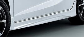 無限 サイドスポイラー(AS) [フィットハイブリッド GP5/GP6 H25/9~H29/5] mugen アラバスターシルバー・メタリック 塗装済み 新品