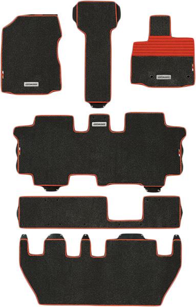 無限 スポーツマット ブラック×レッド [フリードハイブリッド GB7FF車の7人乗り用 H28/9~H30/3 ] mugen 新品