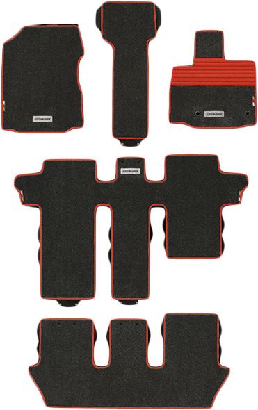 無限 スポーツマット ブラック×レッド [フリード GB5/GB6 6人乗り用 H28/9~H30/3 ] mugen 新品