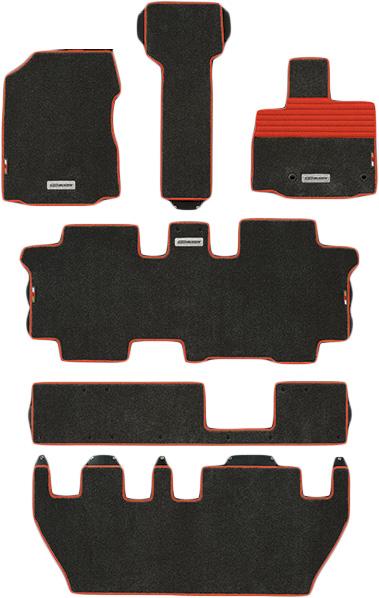 無限 スポーツマット ブラック×レッド [フリード GB5 FF車の7人乗り用 H28/9~H30/3 ] mugen 新品