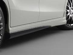 無限 サイドスポイラー(KP) [フリードスパイクハイブリッド GP3 H26/4~H28/9] mugen プレミアムスパークルブラック・パール 塗装済み 新品