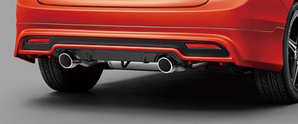 無限 リアアンダースポイラー(CB) [ジェイド FR4/FR5 無限デュアルサイレンサー装着車 H27/2~H30/5] mugen クリスタルブラック・パール×ツヤ消しブラック 塗装済み 新品