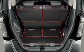 無限 ラゲッジマット ブラック×レッド [N BOX JF1/JF2 スライドシート非装備車用 H26/1~H29/9] mugen 新品
