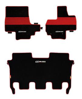 無限 フロアマット ブラック×レッド [N BOX+ JF1/JF2 H23/12~H29/8] mugen 新品