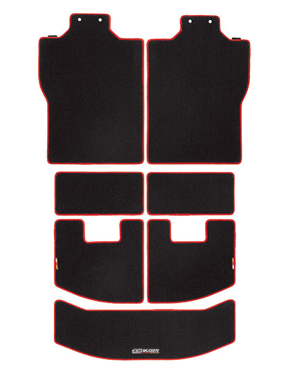 無限 スポーツラゲッジマット ブラック×レッド [N-BOXカスタム JF3/JF4 H29/9~] mugen 新品
