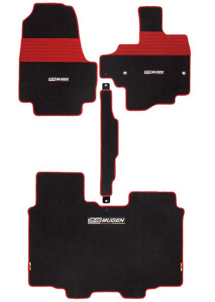 無限 スポーツマット ベンチシート用 ブラック×レッド [N-BOXカスタム JF3/JF4 ベンチシート車 H29/9~] mugen 新品