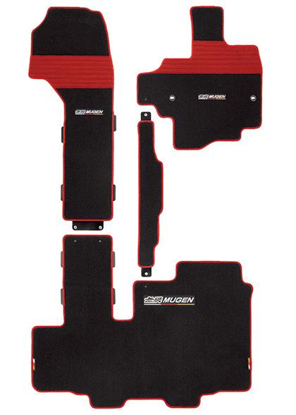 無限 スポーツマット スライドシート用 ブラック×レッド [N-BOX JF3/JF4 助手席スーパースライドシート車 H29/9~] mugen 新品