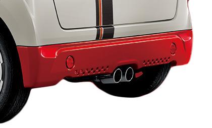 無限 リアアンダースポイラー(SR) [N BOXスラッシュ JF1/JF2 H30/2~] mugen スマートブラック 塗装済み 新品