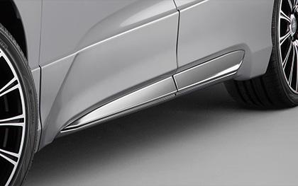無限 サイドガーニッシュ(SP) [オデッセイ RC1/RC2 H30/2~] mugen スーパープラチナ・メタリック 塗装済み 新品