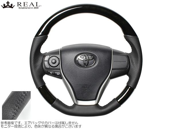 REAL ブラックウッド [ハリアー ZSU60W/ZSU65W] レアルステアリング オリジナルシリーズ ブラックウッド 新品