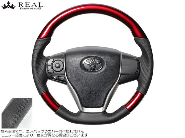 REAL パールレッド [ハリアー ZSU60W/ZSU65W] レアルステアリング オリジナルシリーズ パールレッド 新品