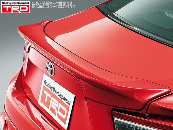TRD リヤトランクスポイラーブラック(D4S) 塗装済み [86 (ハチロク) ZN6 GT Limited 前期] 新品