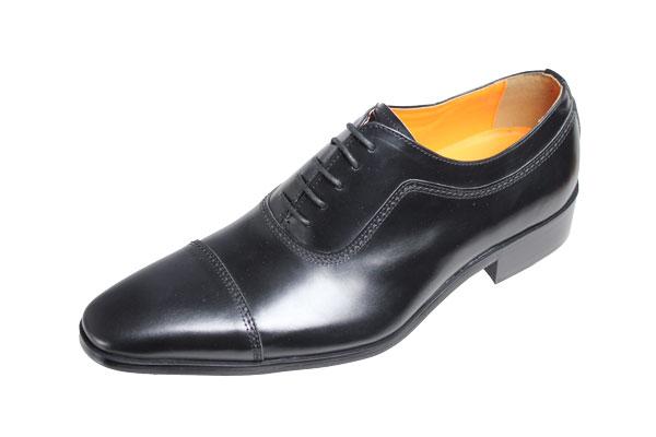 【送料無料】アントニオ デユカティメンズシューズ1173ブラック【ANTONIO DUCATI】ストレートチップ本革紳士靴