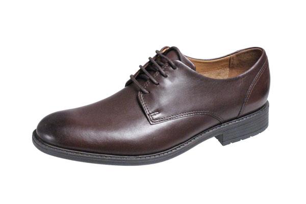 クラークスメンズビジネスシューズTRUXTON PLAINプレーン紐靴26119706ダークブラウン