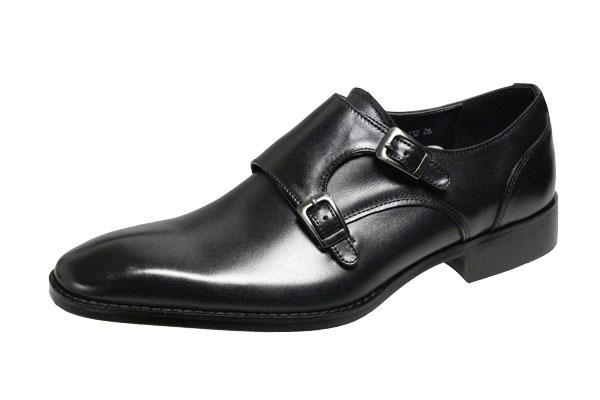 アントニオドカッティ紳士靴ダブルモンクストラップビジネスシューズ アントニオドカッティメンズシューズ1132ブラックANTONIO 待望 正規取扱店 DUCATI紳士靴ダブルモンクストラップメンズシューズ