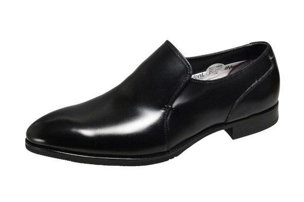 マドラスモデロメンズシューズ8304ブラック防水透湿機能のあるeVentを搭載したメンズビジネスシューズ ラウンドのつま先に飾りのないすっきりとしたスリッポンの紳士靴