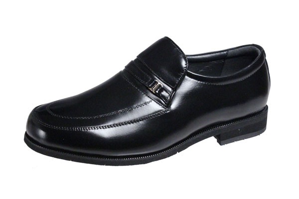 マドラス紳士靴Uチップスリッポン足幅の広い5E(F)でゆったりの履き心地4527ブラック