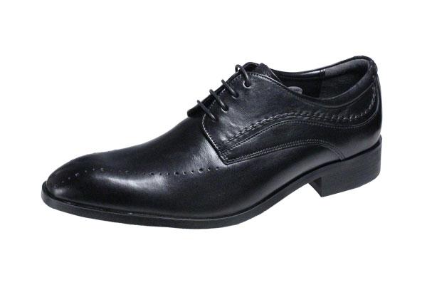 エルオムメンズシューズELLE HOMME 外羽根紳士靴6003ブラック