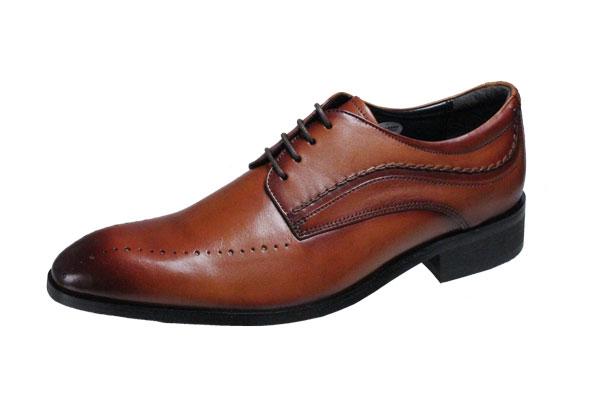 エルオムメンズシューズELLE HOMME 外羽根紳士靴6003ライトブラウン