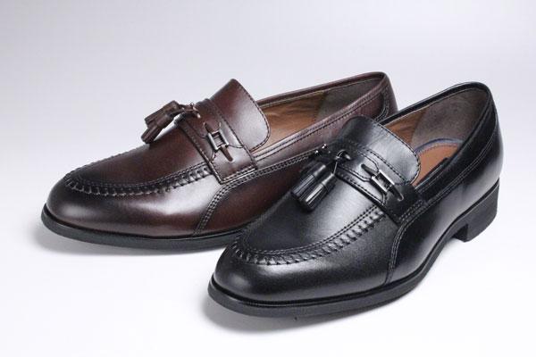 メンズシューズ本革ビジネスシューズfancy madrasタッセル付紳士靴スリッポン