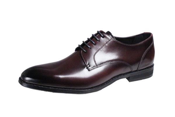 フランコルッチメンズビジネスシューズFRANCO LUZIプレーン外羽根紳士靴2200バーガンディ